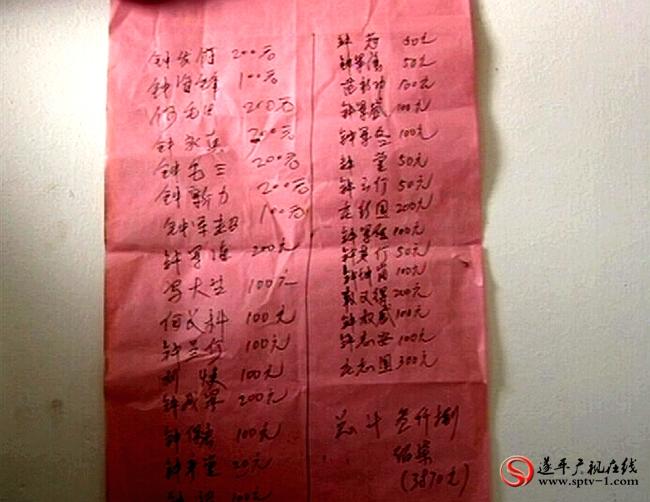 相邻相亲为这个家伸出了援助之手,钟喜宇都一笔一笔记着,待日后报答。