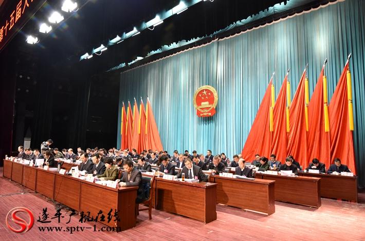 遂平县第十五届人民代表大会第三次会议主席台领导