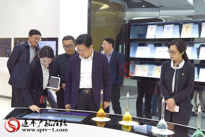 上图:驻马店市委副书记、市政府市长朱是西在史丹利调研。 摄影:赵建明